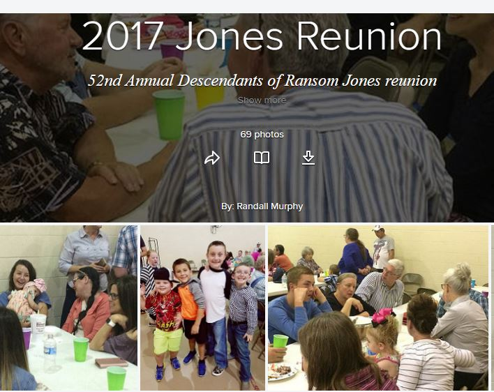 Pictures from the 52nd Jones Reunion